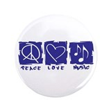 Peace.Love.Music 3.5&quot; Button