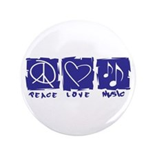 "Peace.Love.Music 3.5"" Button"