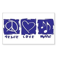 Peace.Love.Music Bumper Stickers