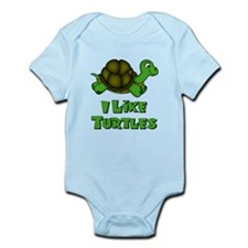 I Like Turtles Infant Bodysuit