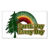 Earth Day Every Day Retro Bumper Stickers