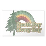 Earth Day Every Day Retro Decal