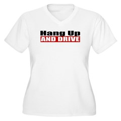 Hang Up And Drive Women's Plus Size V-Neck T-Shirt