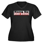 Hang Up And Drive Women's Plus Size V-Neck Dark T-