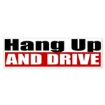 Hang Up And Drive Sticker (Bumper 10 pk)