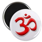 Red Om 2.25&quot; Magnet (100 pack)