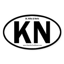 St. Kitts & Nevis Oval Decal