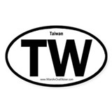 Taiwan Oval Decal