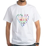 Scrubs Characters Heart Shirt