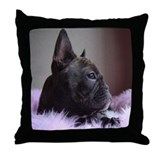 Faux Frenchie Throw Pillow