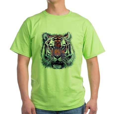 Retro Tiger Green T-Shirt