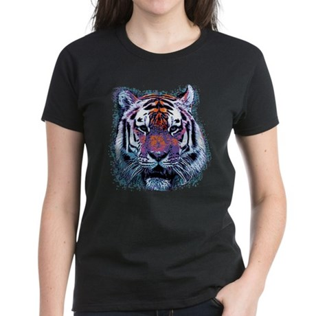 Retro Tiger Womens T-Shirt