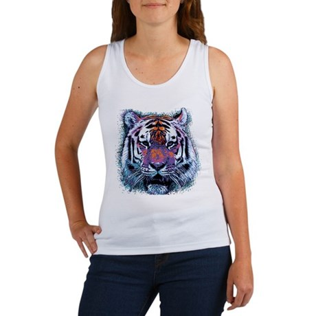 Retro Tiger Womens Tank Top