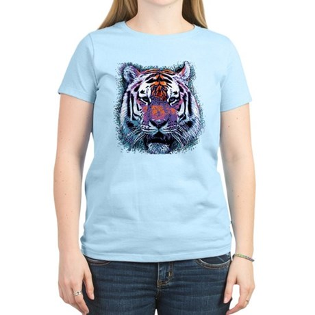 Retro Tiger Womens Light T-Shirt
