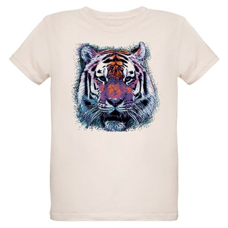 Retro Tiger Organic Kids T-Shirt