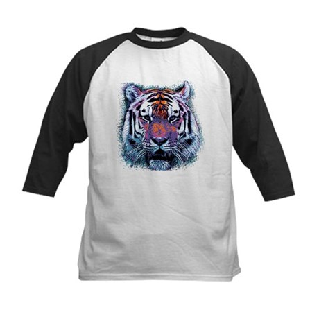 Retro Tiger Kids Baseball Jersey
