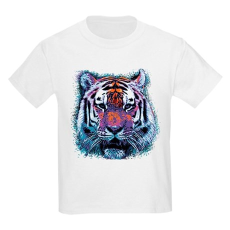 Retro Tiger Kids Light T-Shirt