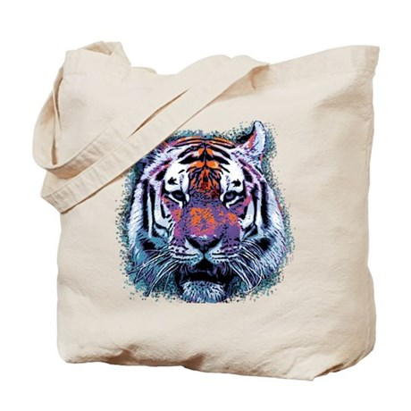 Retro Tiger Tote Bag