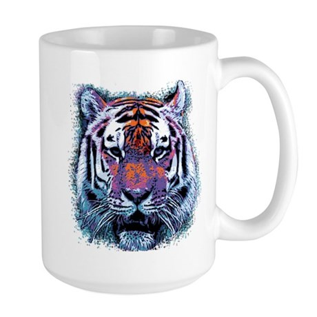 Retro Tiger Large Mug