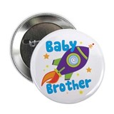 "Baby Brother Rocket 2.25"" Button (10 pack)"
