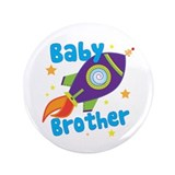 "Baby Brother Rocket 3.5"" Button (100 pack)"