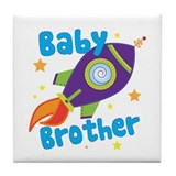 Baby Brother Rocket Tile Coaster