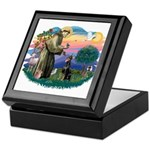 St Francis #2/ Dobie (cropped) Keepsake Box