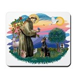 St Francis #2/ Dobie (cropped) Mousepad