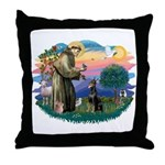 St Francis #2/ Dobie (cropped) Throw Pillow