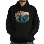 St Francis #2/ Dobie (cropped) Hoodie (dark)