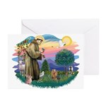 St Francis #2/ Yorkie #7 Greeting Cards (Pk of 10)