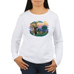 St Francis #2/ Yorkie #7 Women's Long Sleeve T-Shi