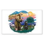 St Francis #2/ Bouvier Sticker (Rectangle 10 pk)