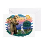 St Francis #2/ Dalmatian Greeting Cards (Pk of 20)