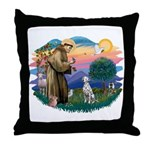 St Francis #2/ Dalmatian Throw Pillow