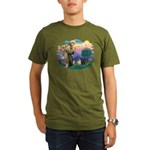 St Francis #2/ Pugs (blk&f) Organic Men's T-Shirt