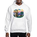 St Francis #2/ Pugs (blk&f) Hooded Sweatshirt