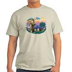 St Francis #2/ Pugs (blk&f) Light T-Shirt
