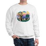 St Francis #2/ Pugs (blk&f) Sweatshirt