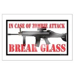 Break Glass Large Poster