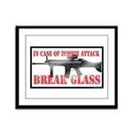 Break Glass Framed Panel Print
