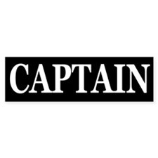 CAPTAIN Bumper Sticker
