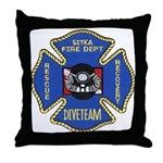 Sitka Fire Dept Dive Team Throw Pillow