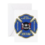 Sitka Fire Dept Dive Team Greeting Card