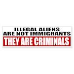 Illegal Aliens Are Not Immigr Sticker (Bumper 10 p