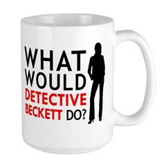 What Would Detective Beckett Large Mug