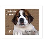 St Bernard Puppy Cookie Small Poster