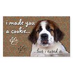St Bernard Puppy Cookie Sticker (Rectangle 50 pk)