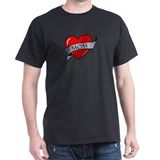 Mom Heart Tattoo T-Shirt