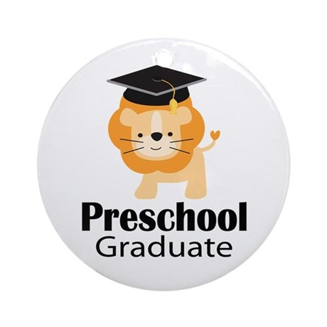 Preschool Graduation Lion Ornament (Round)